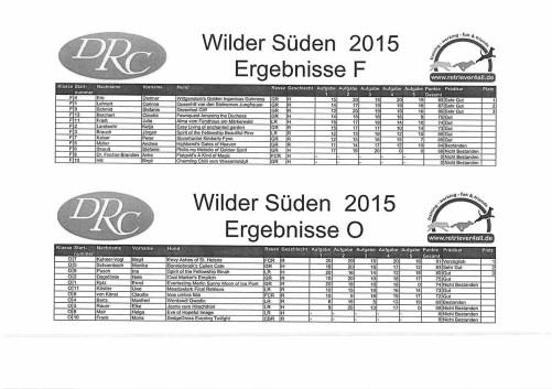 Ergebnisse Wilder Süden F+O